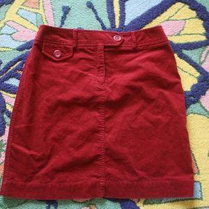 Harold's corduroy skirt